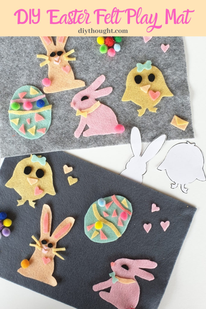 16 Kids Bunny Rabbit Easter Crafts- felt play mat