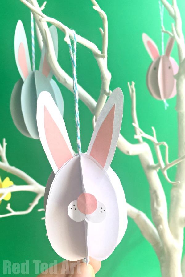 16 Kids Bunny Rabbit Easter Crafts- easter decoration