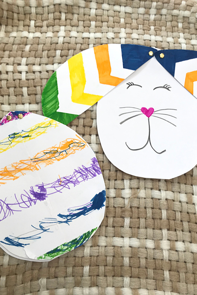 easy easter egg and rabbit paper craft