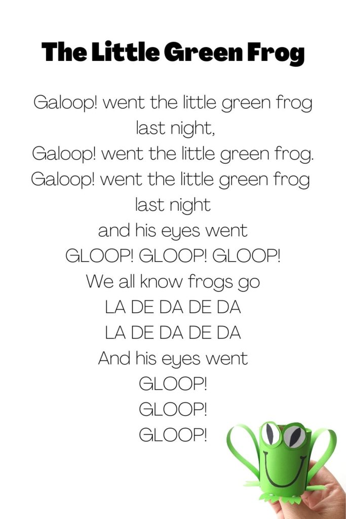 The little green frog song