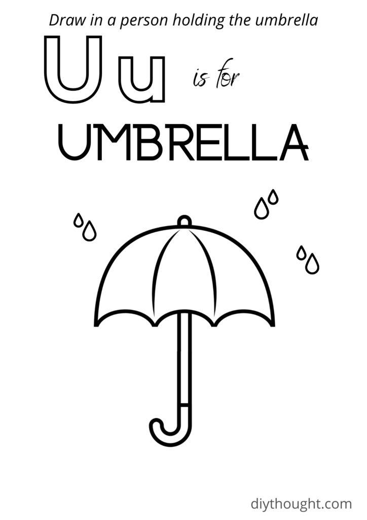 umbrella coloring page free