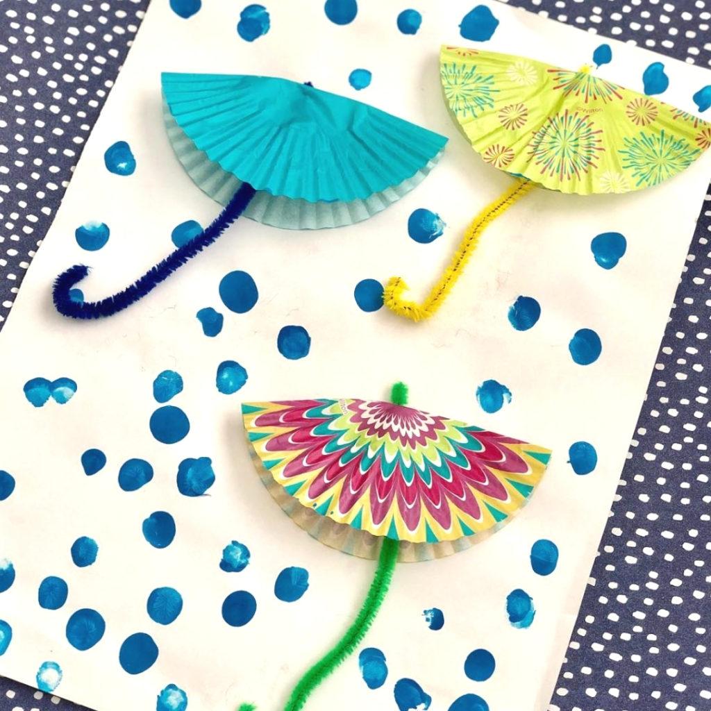 cupcake liner umbrella craft