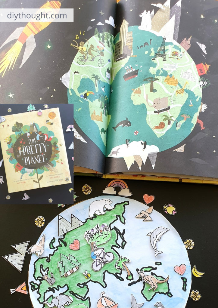 This pretty planet book and earth day craft