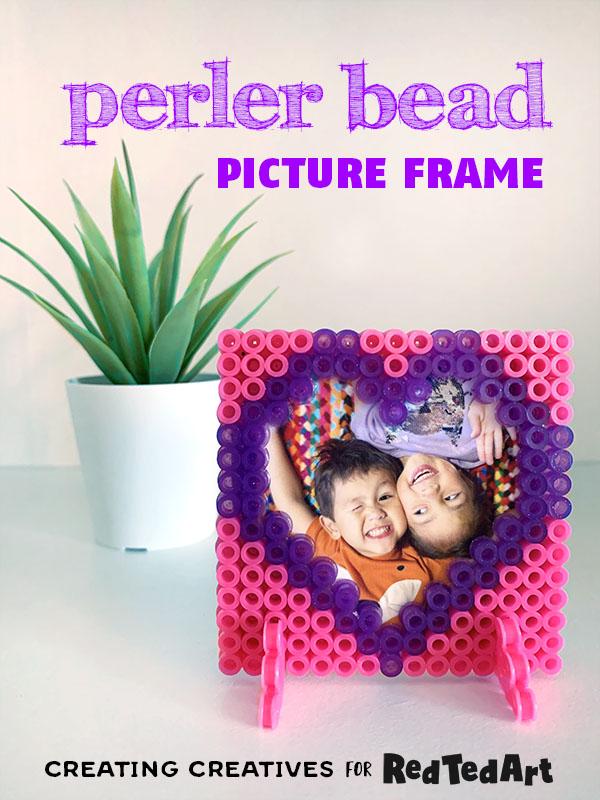 perler bead heart frame