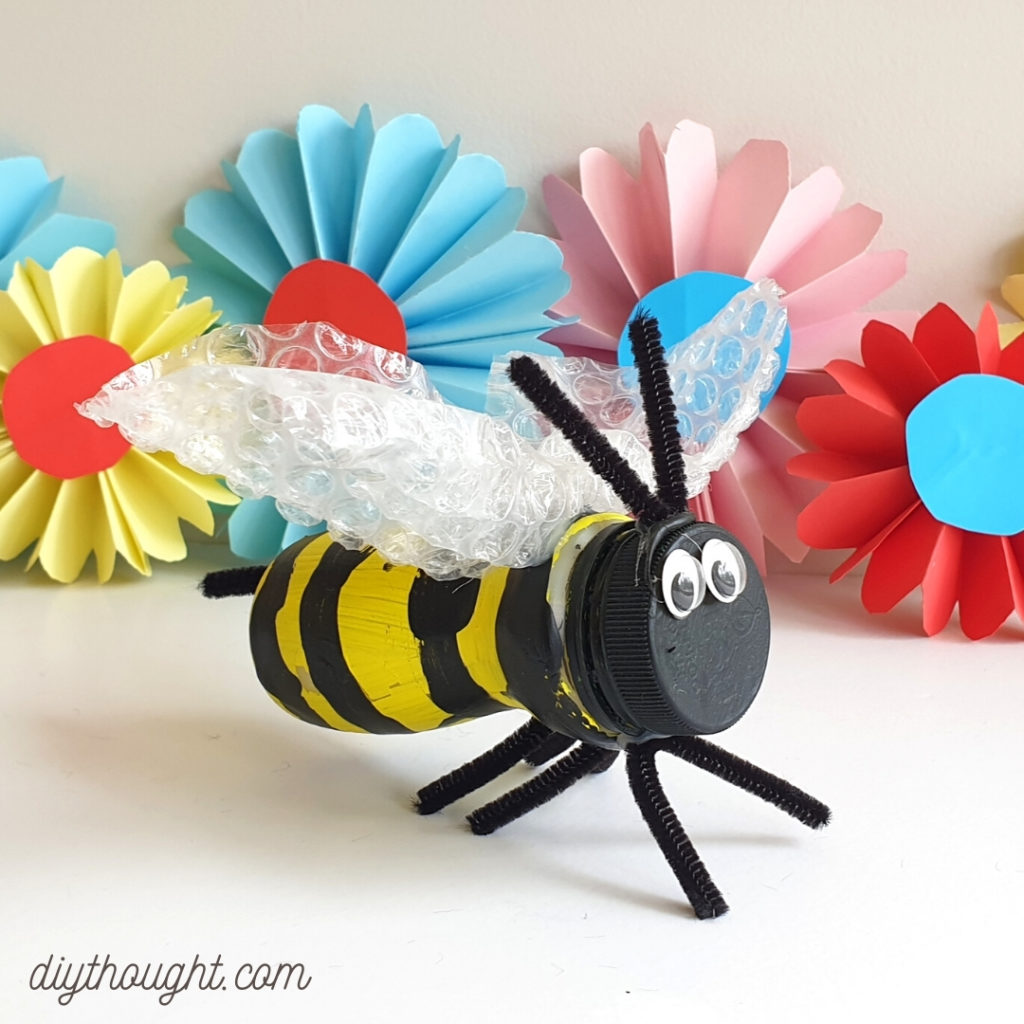 Kids Bee Crafts recycled bee
