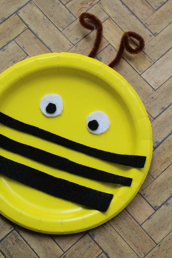 10 Kids Bee Crafts paper plate bee