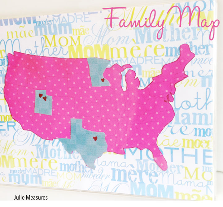 DIY Gifts For Mother's Day- family map