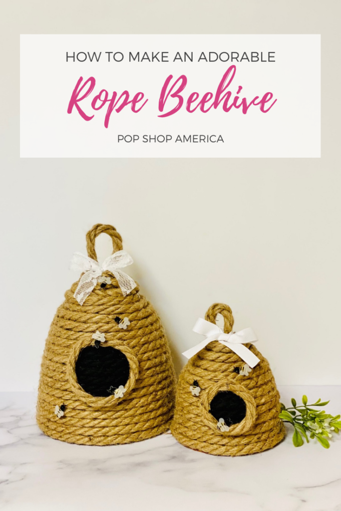 10 Kids Bee Crafts- rope beehive