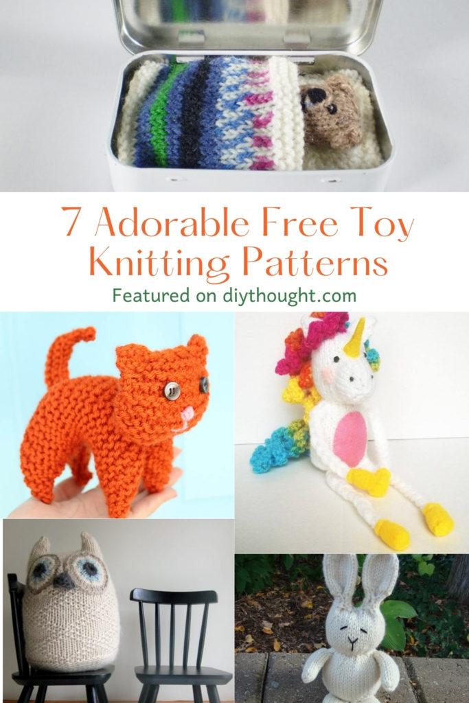 7 Adorable Free Toy Knitting Patterns