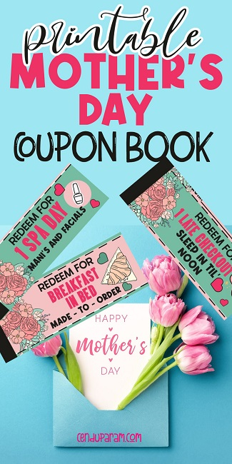 DIY Gifts For Mother's Day- coupon book