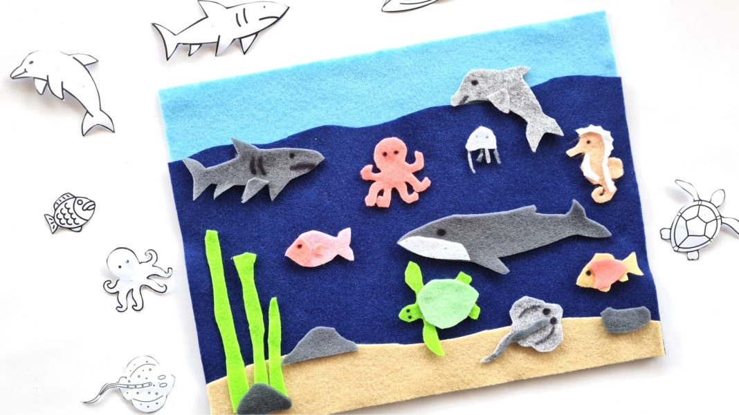 ocean felt play mat