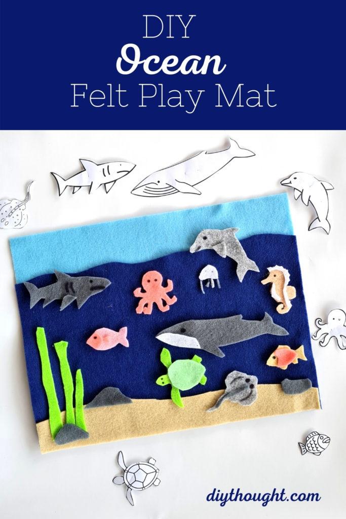 DIY Ocean Felt Play Mat