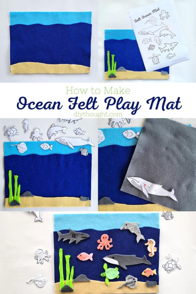 How to make- DIY Ocean Felt Play Mat