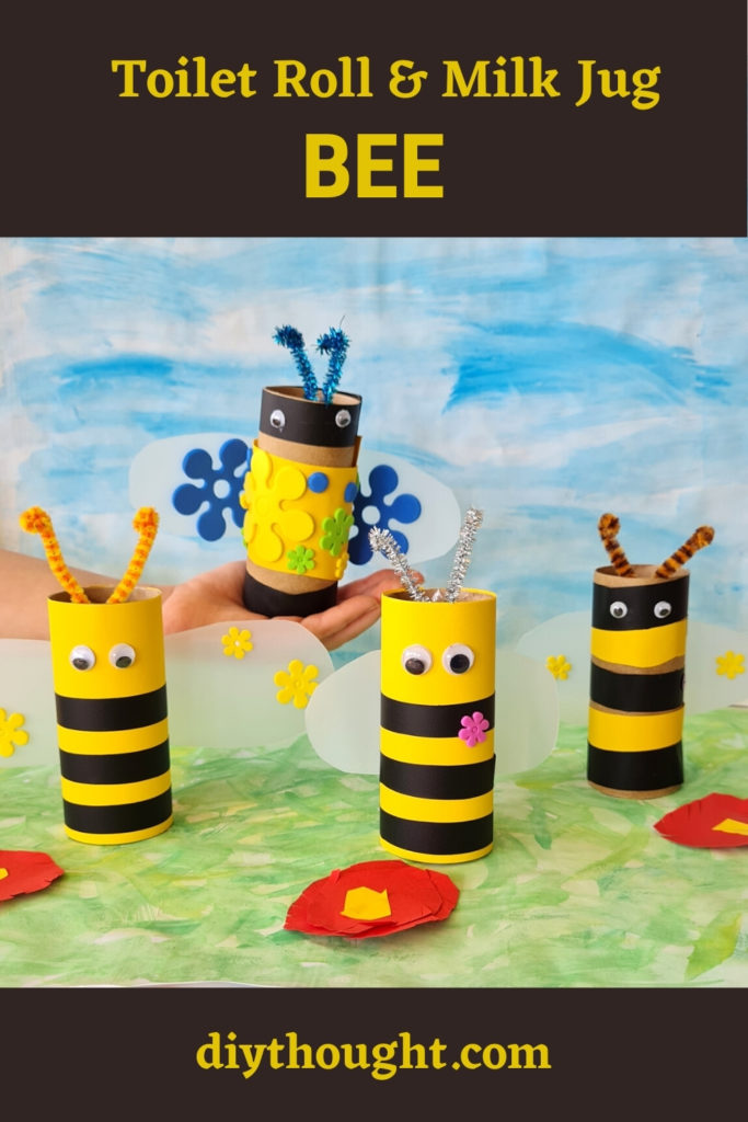 Toilet Roll & Milk Jug Bee