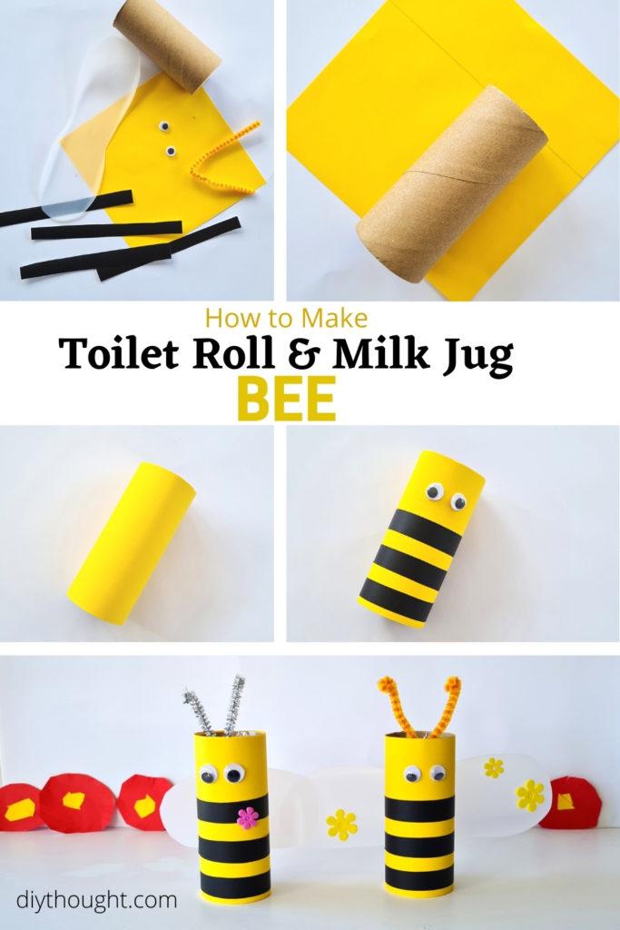 How to make Toilet Roll & Milk Jug Bee
