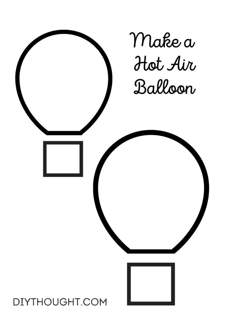 hot air balloon craft printable