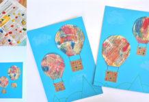 hot air balloon kids craft