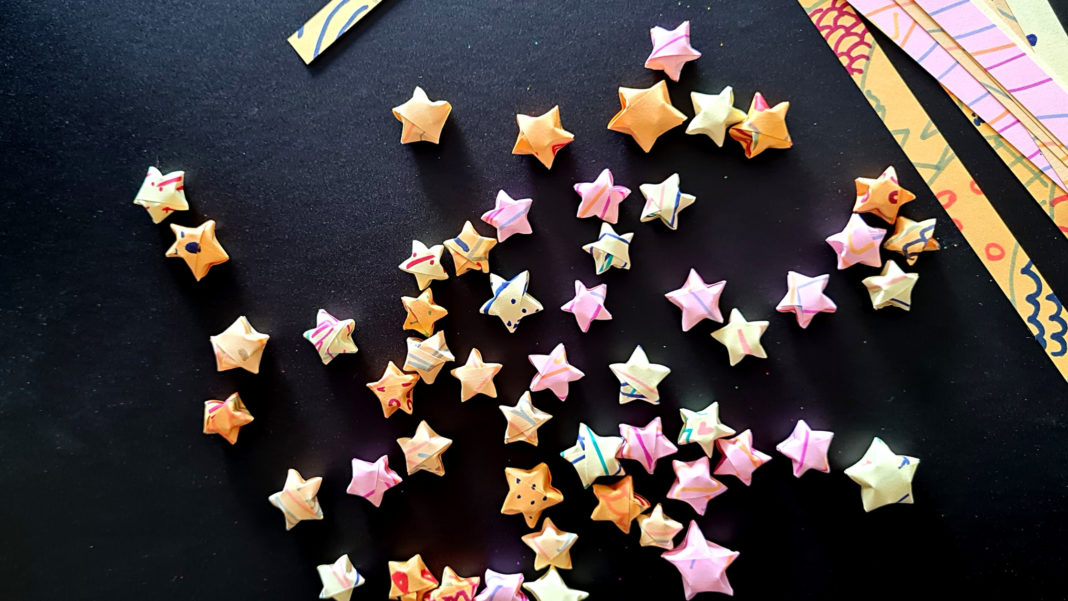paper strip lucky stars