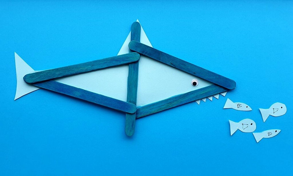 Crafty days in July- Shark craft