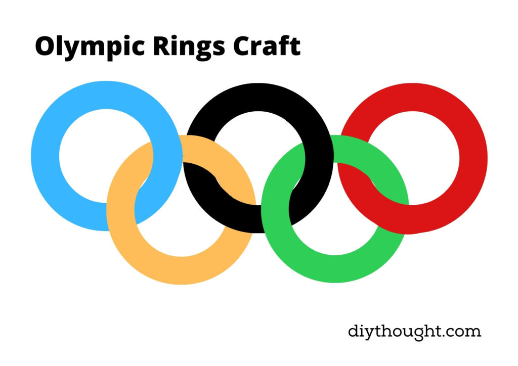 Olympic Rings Collage Craft printable