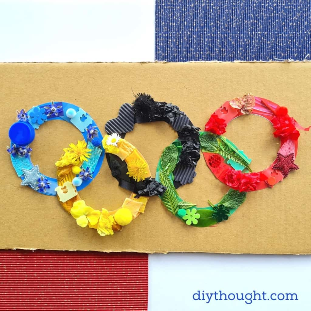 Olympic Rings Collage Craft