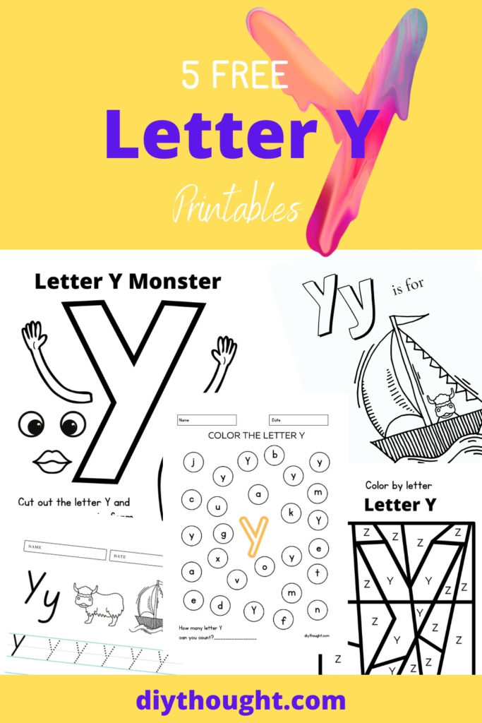 5 Free Letter Y Printables
