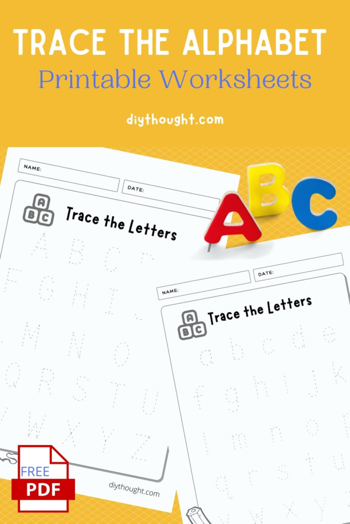 Trace The Alphabet Printable Worksheets