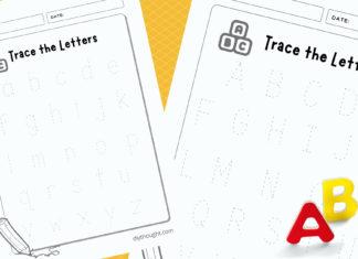 ABC letter worksheet