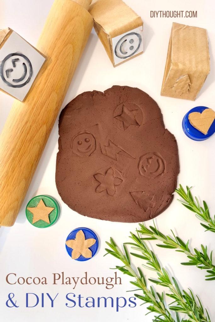 Cocoa Playdough & DIY Stamps