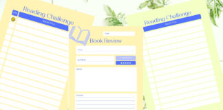 reading log and book review pritable
